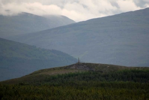 IMPACTED monument viewed from Loch Nan Foidhag